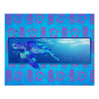 Underwater Sea Turtle Print