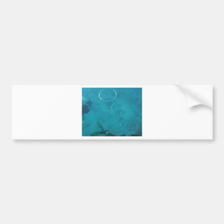 Underwater Smoke Rings Bumper Sticker