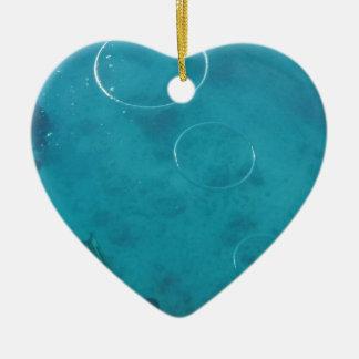 Underwater Smoke Rings Ceramic Ornament