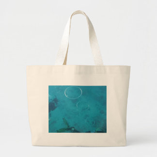 Underwater Smoke Rings Large Tote Bag