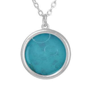 Underwater Smoke Rings Silver Plated Necklace