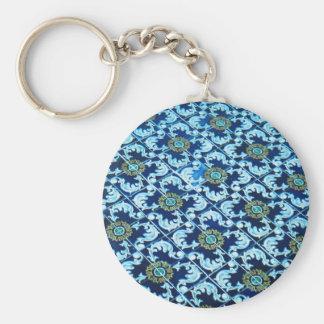 Underwater Spanish Tile Basic Round Button Keychain