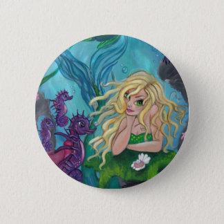 """""""Underwater Treasures"""" Mermaid Fantasy BUTTON"""