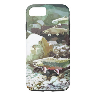 Underwater trout fishing scene iPhone 7 case