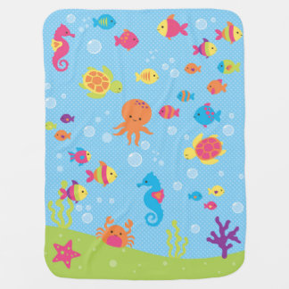 Underwater Wildlife Baby Blanket
