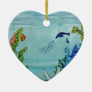 Underwater World #1 Ceramic Ornament