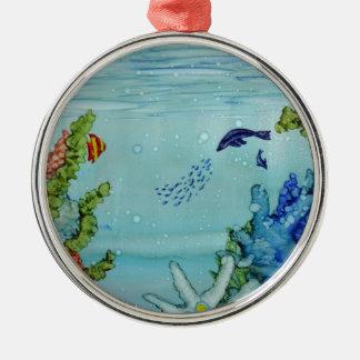 Underwater World #1 Metal Ornament