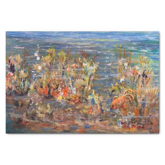 Underwater World Tropical Fish Aquarium Painting Tissue Paper