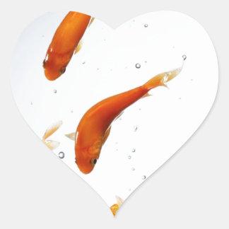underwatter goldfish heart sticker