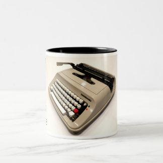 Underwood 319 typewriter Two-Tone coffee mug