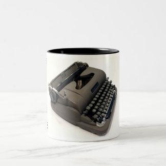 Underwood Finger Flite Champion typewriter Two-Tone Coffee Mug