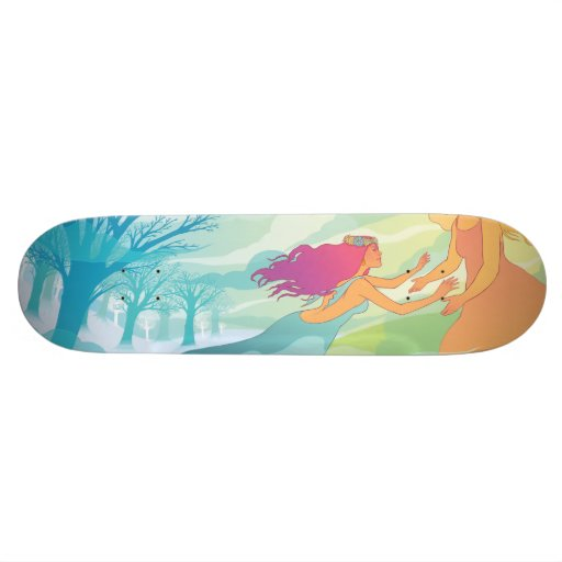 Underworld with Persephone Custom Skateboard