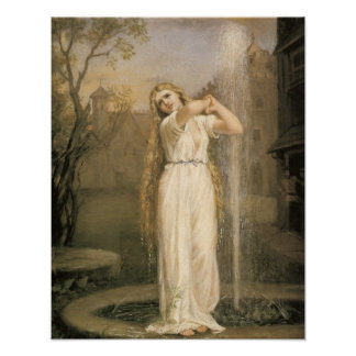Undine by Waterhouse Poster