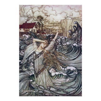 Undine in the Waves Poster