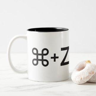 (Undo) Control+Z Two-Tone Coffee Mug