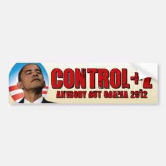 Undo Obama 2012 - Control + Z Bumper Sticker