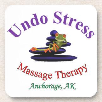 Undo Stress Alaska Logo Beverage Coaster