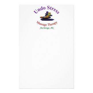 Undo Stress Alaska Logo Customized Stationery