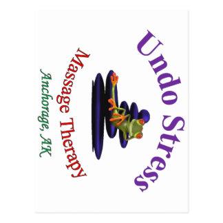 Undo Stress Alaska Logo Postcard