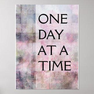 Une affiche abstraite tissée de jour à la fois (OD