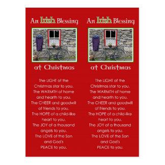 Une bénédiction irlandaise au signet de Noël Carte Postale