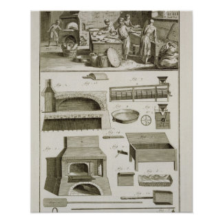 Une boulangerie et un équipement de cuisson, du 'E Affiches