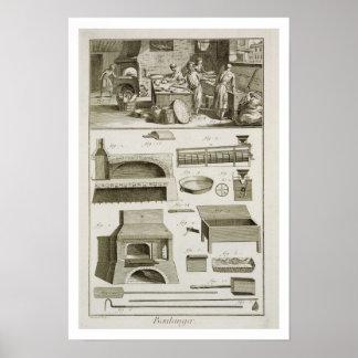 Une boulangerie et un équipement de cuisson, du 'E Poster