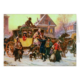 Une carte de Noël démodée