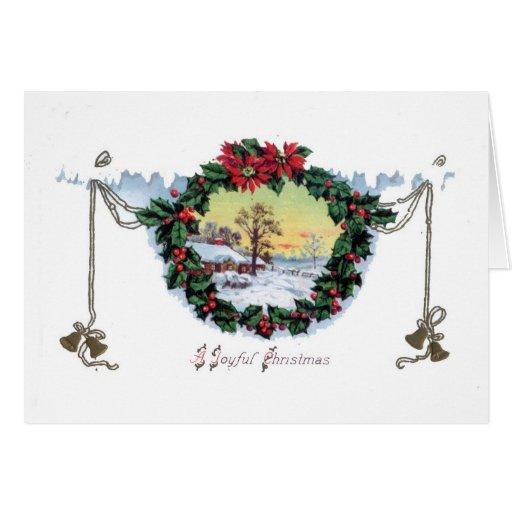 Une carte de Noël démodée de Noël joyeux