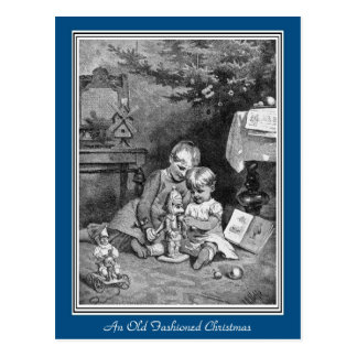 Une carte postale démodée de Noël