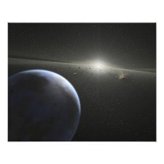 Une ceinture en forme d'étoile massive en orbite photos sur toile