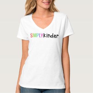 Une chemise simplement plus aimable de V-Cou T-shirts