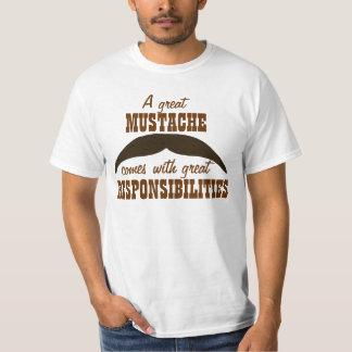 Une grande moustache t-shirt