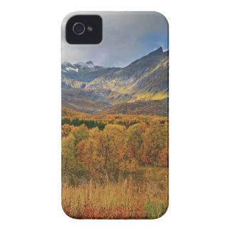 Une île de vue d'automne de Hinnoya Troms Norvège Coque iPhone 4 Case-Mate