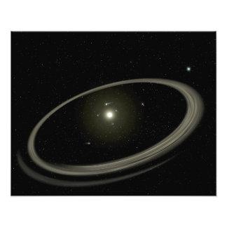Une jeune étoile cerclée par les planètes normales photographe