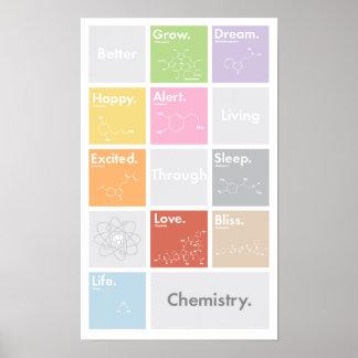 Une meilleure vie par l'affiche de chimie