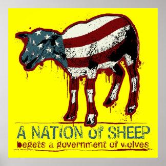 Une nation d affiche de moutons
