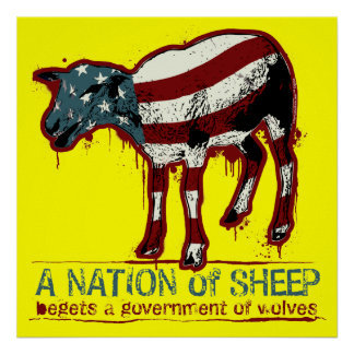 Une nation d'affiche de moutons
