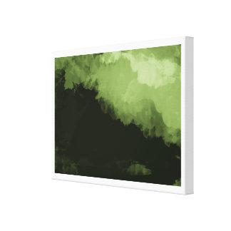 une peinture de paysage numérique verte impressions sur toile