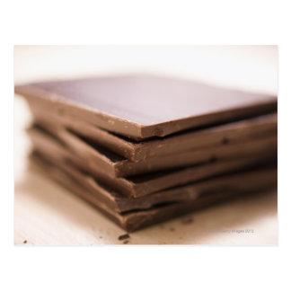 Une pile du chocolat du boulanger prête à être cou cartes postales