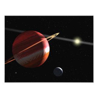 Une planète de la Jupiter-masse satellisant Tirage Photo