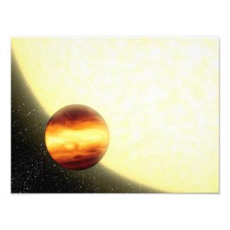 Une planète gaz-géante orbitant très étroitement tirage photo