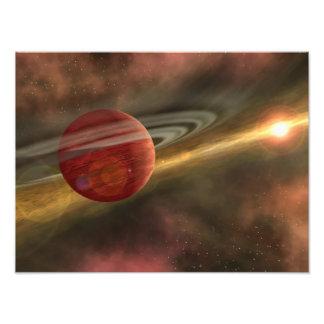 Une planète récemment découverte possible photographies d'art
