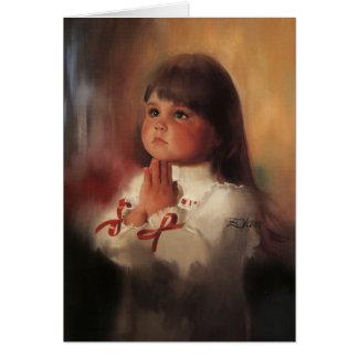 Une prière de Noël Carte De Vœux