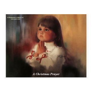 Une prière de Noël Cartes Postales