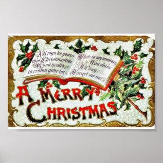 Une salutation de Noël avec des mots de bible Posters