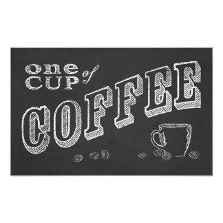 une tasse d'ART de CRAIE de café Impression Photographique