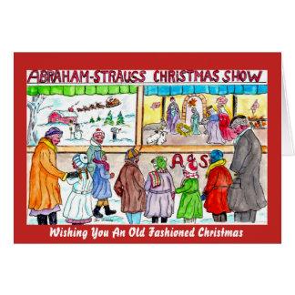 Une vie démodée sur la carte de Noël de Stoop