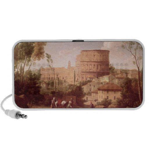 Une vue du Colosseum avec un voyageur, 1731 (oi Haut-parleurs Ordinateur Portable