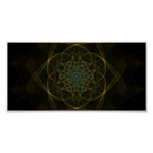 UNEARTHED DIGITAL JEWEL OUTER SPACE RANDOM ABSTRAC PRINT